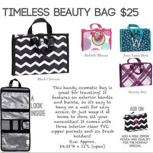 Thirty One Timeless Beauty Bag in Parisan Garden
